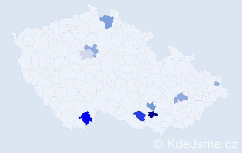 Příjmení: 'Harper', počet výskytů 17 v celé ČR