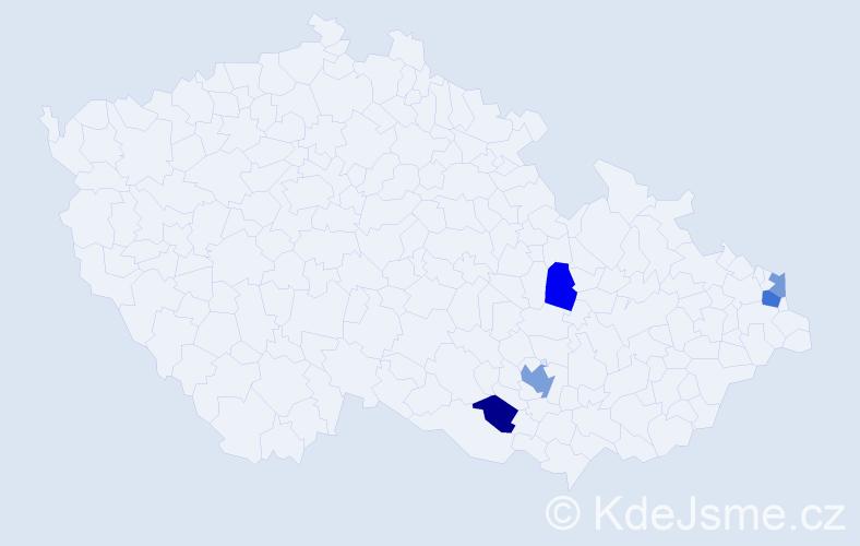 Příjmení: 'Kefalidis', počet výskytů 8 v celé ČR