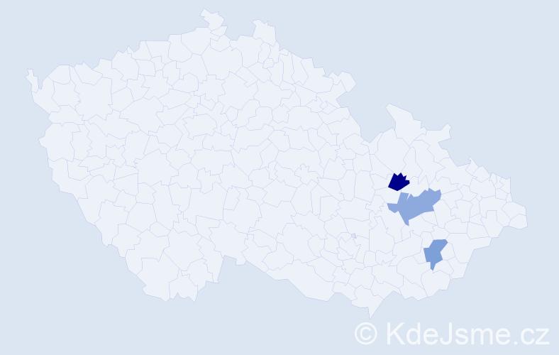 Příjmení: 'Girscheková', počet výskytů 3 v celé ČR