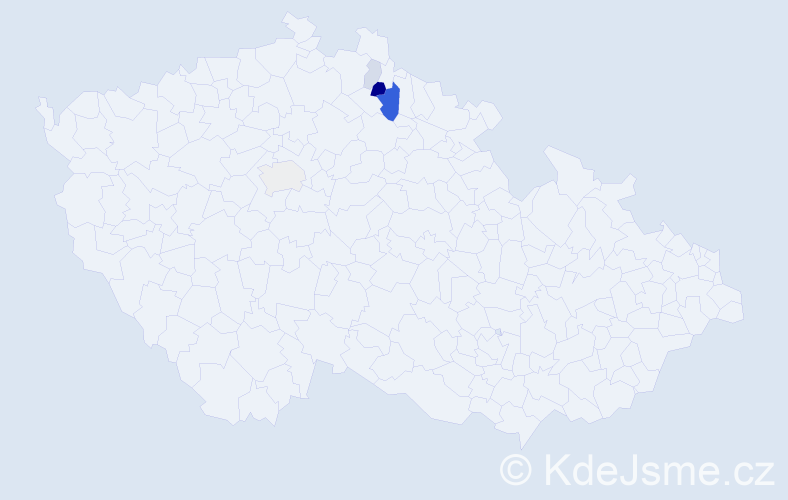 Příjmení: 'Fajx', počet výskytů 12 v celé ČR