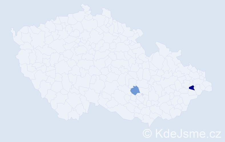 Příjmení: 'Concu', počet výskytů 3 v celé ČR