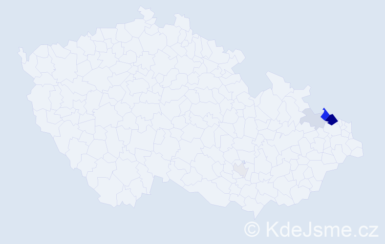Příjmení: 'Kamrad', počet výskytů 13 v celé ČR