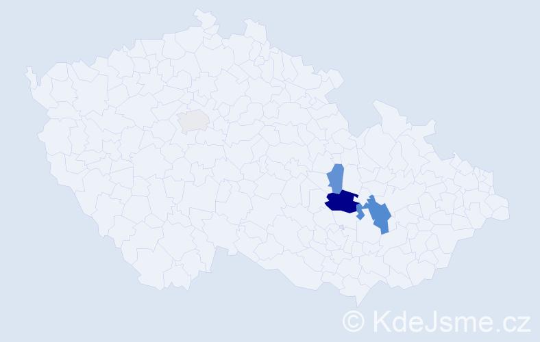 Příjmení: 'Klemsche', počet výskytů 9 v celé ČR