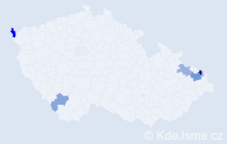 Příjmení: 'Braková', počet výskytů 20 v celé ČR
