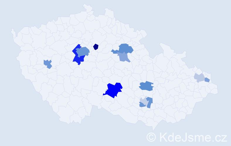Příjmení: 'Barry', počet výskytů 28 v celé ČR