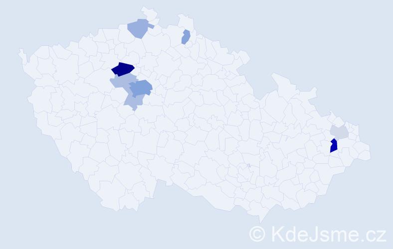 Příjmení: 'Kamínová', počet výskytů 24 v celé ČR