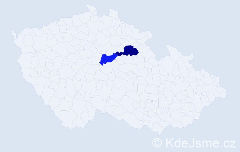 Příjmení: 'Eppichová', počet výskytů 3 v celé ČR