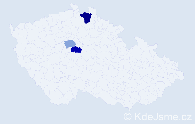 Příjmení: 'Deliopulos', počet výskytů 6 v celé ČR