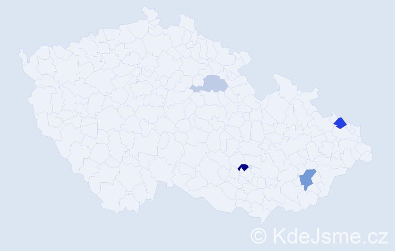Příjmení: 'Klok', počet výskytů 16 v celé ČR