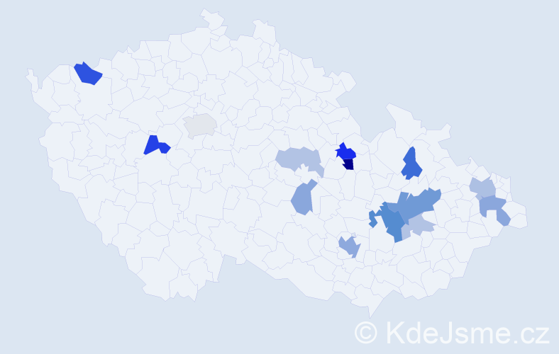 Příjmení: 'Balcařík', počet výskytů 32 v celé ČR