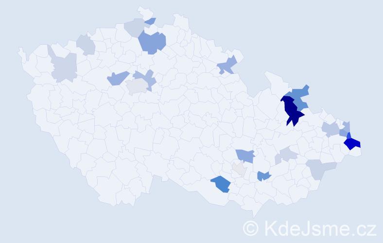 Příjmení: 'Cyprich', počet výskytů 57 v celé ČR