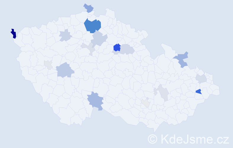 Příjmení: 'Gonos', počet výskytů 41 v celé ČR