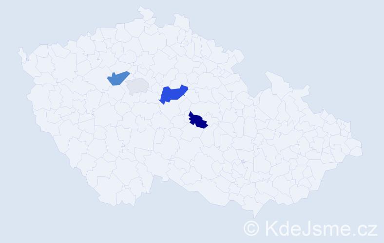 Příjmení: 'Ehrman', počet výskytů 6 v celé ČR