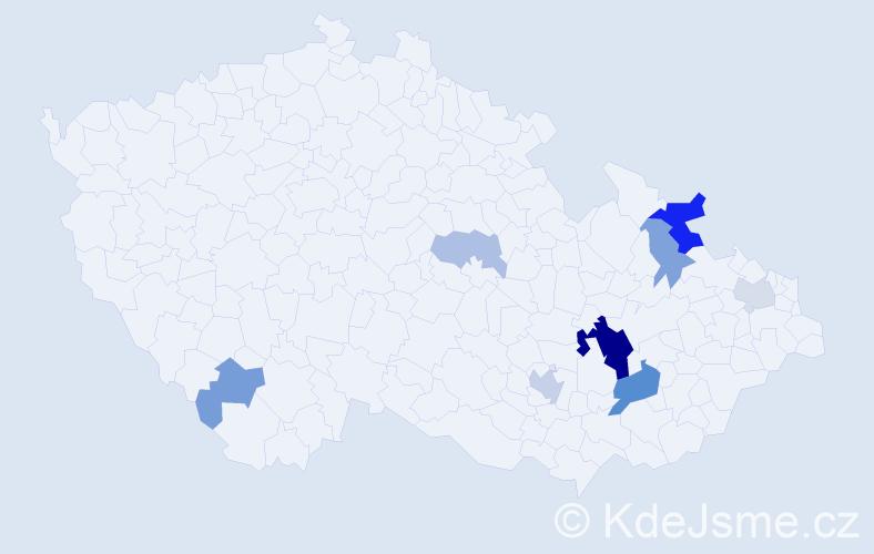 Příjmení: 'Antelová', počet výskytů 20 v celé ČR