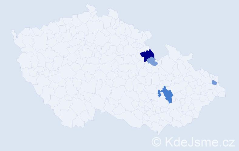 Příjmení: 'Cit', počet výskytů 13 v celé ČR