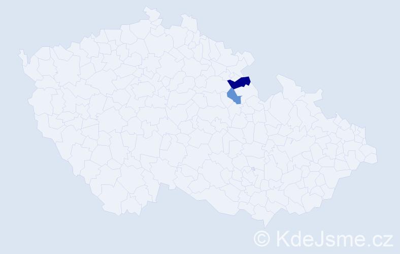 Příjmení: 'Alimová', počet výskytů 3 v celé ČR