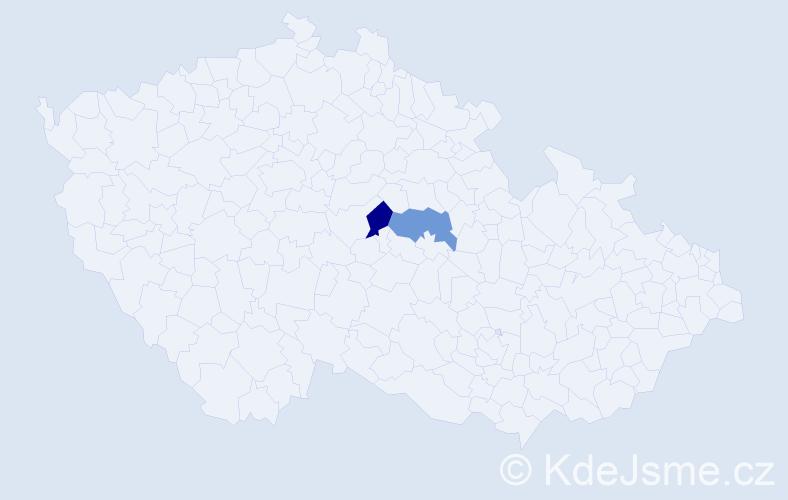 Příjmení: 'Iliziová', počet výskytů 2 v celé ČR