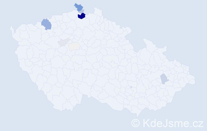 Příjmení: 'Kovalev', počet výskytů 23 v celé ČR