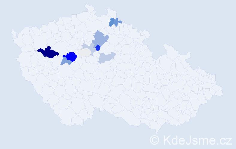 Příjmení: 'Boskovic', počet výskytů 21 v celé ČR