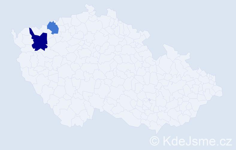 Příjmení: 'Ipner', počet výskytů 3 v celé ČR