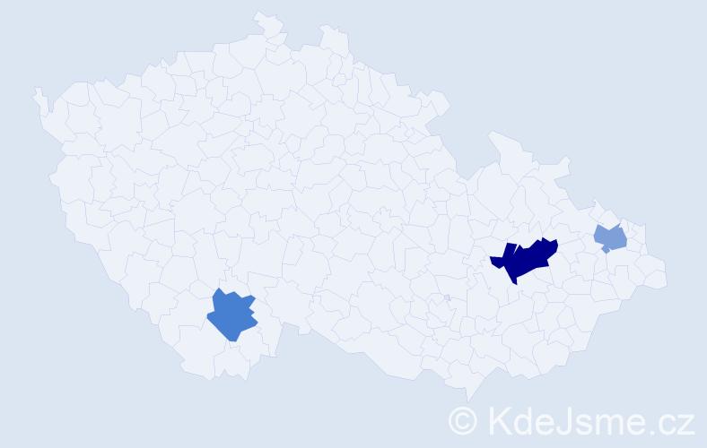 Příjmení: 'Amara', počet výskytů 4 v celé ČR
