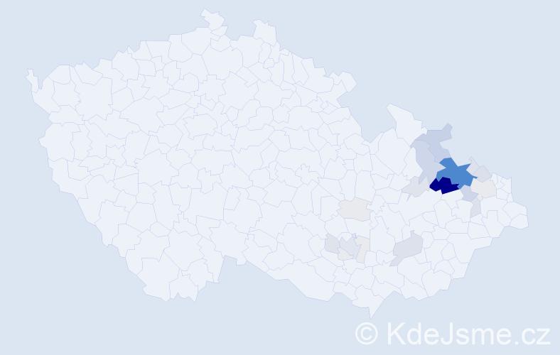 Příjmení: 'Grodová', počet výskytů 92 v celé ČR