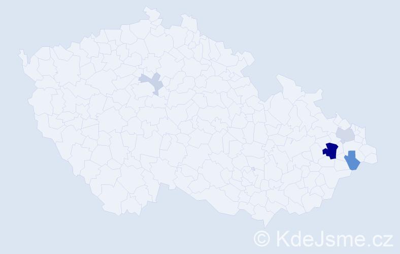 Příjmení: 'Hodura', počet výskytů 24 v celé ČR