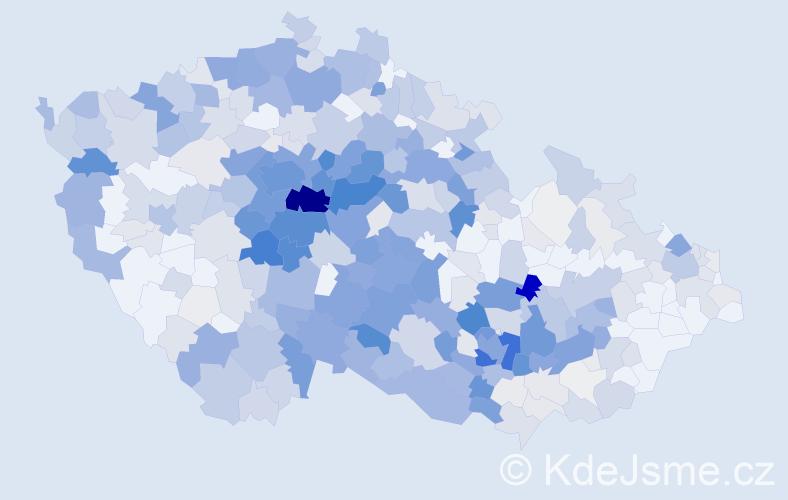 Příjmení: 'Barták', počet výskytů 1984 v celé ČR