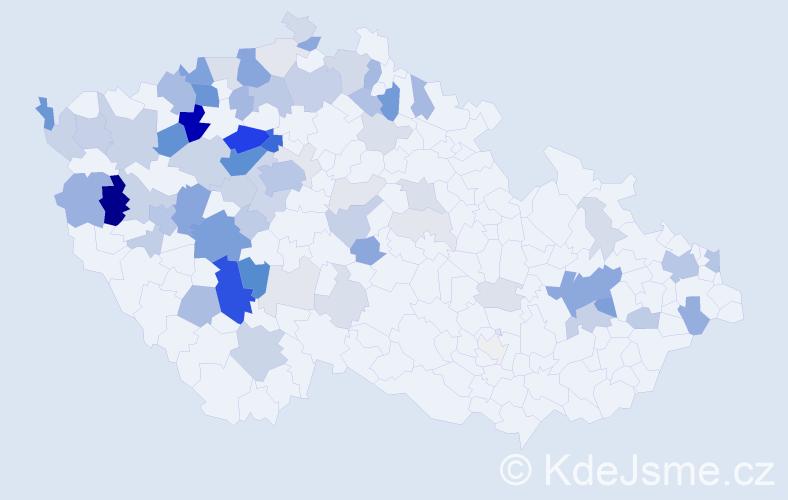 Příjmení: 'Kozelka', počet výskytů 280 v celé ČR