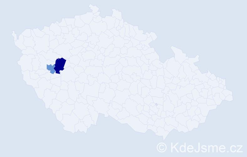 Příjmení: 'Khadang', počet výskytů 2 v celé ČR