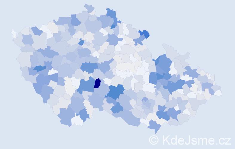 Příjmení: 'Berková', počet výskytů 2265 v celé ČR