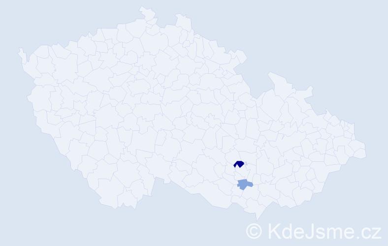 Příjmení: 'Gumenyuk', počet výskytů 4 v celé ČR