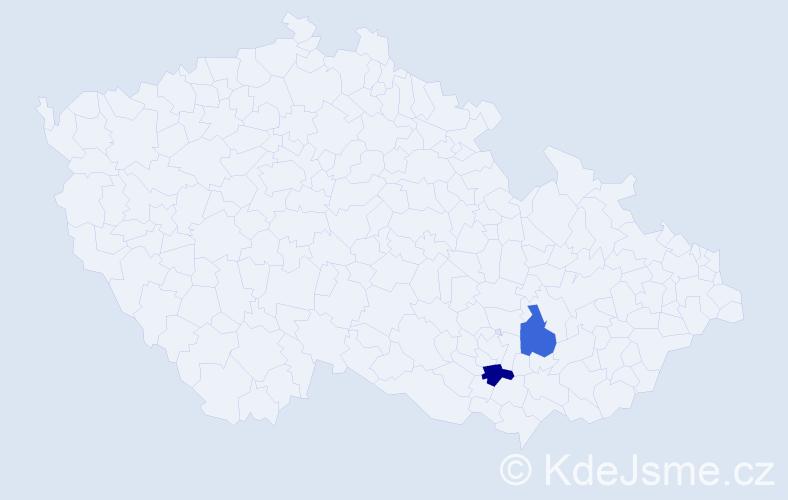 Příjmení: 'Chumelová', počet výskytů 2 v celé ČR