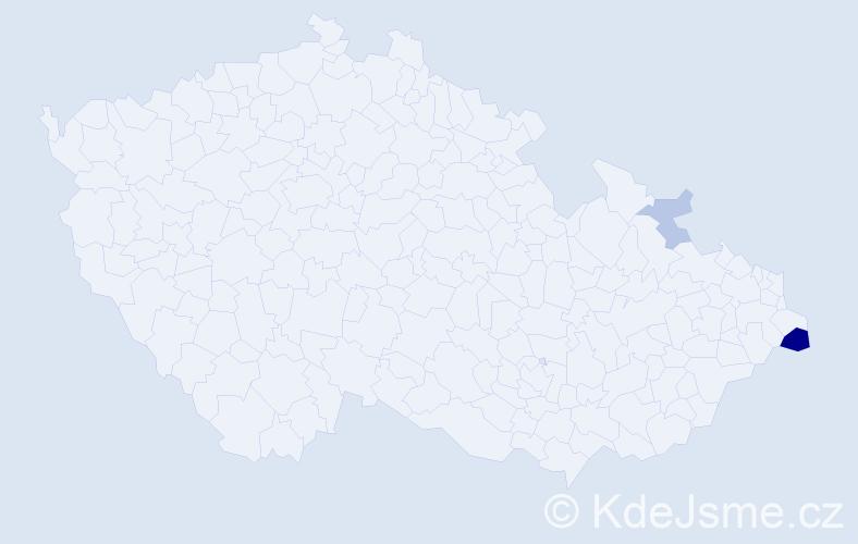 Příjmení: 'Jalowiczor', počet výskytů 28 v celé ČR