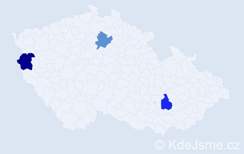 Příjmení: 'Laurinčík', počet výskytů 3 v celé ČR