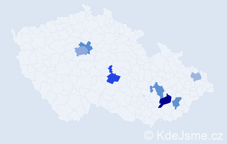 Příjmení: 'Lachendro', počet výskytů 11 v celé ČR