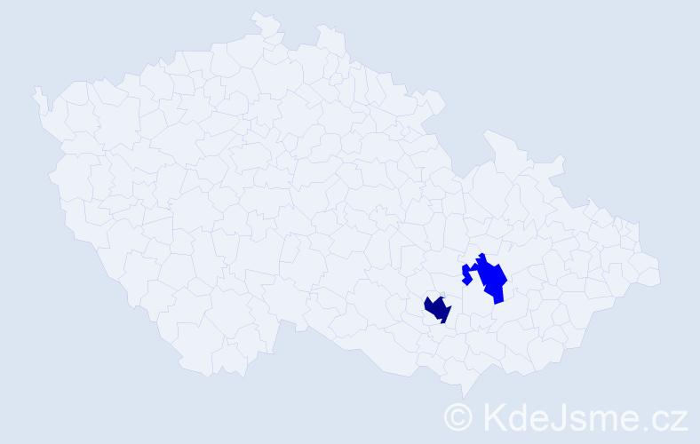 Příjmení: 'Castellanos', počet výskytů 9 v celé ČR