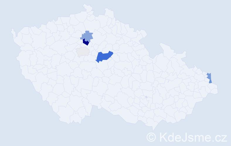 Příjmení: 'Litomyský', počet výskytů 12 v celé ČR