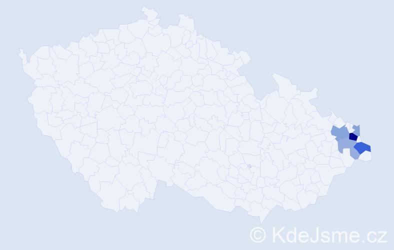 Příjmení: 'Grutmanová', počet výskytů 12 v celé ČR