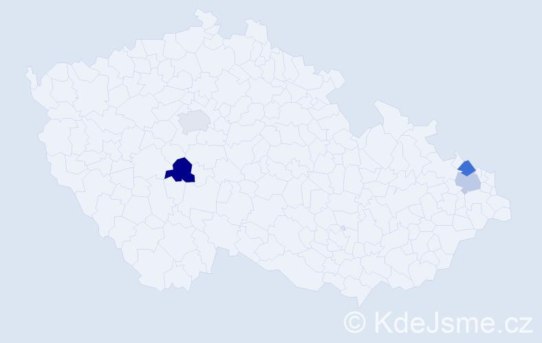 Příjmení: 'Karšay', počet výskytů 4 v celé ČR