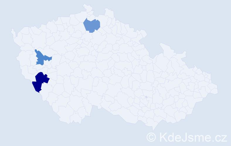 Příjmení: 'Maglovská', počet výskytů 4 v celé ČR