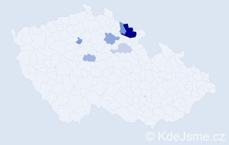 Příjmení: 'Čumrik', počet výskytů 12 v celé ČR