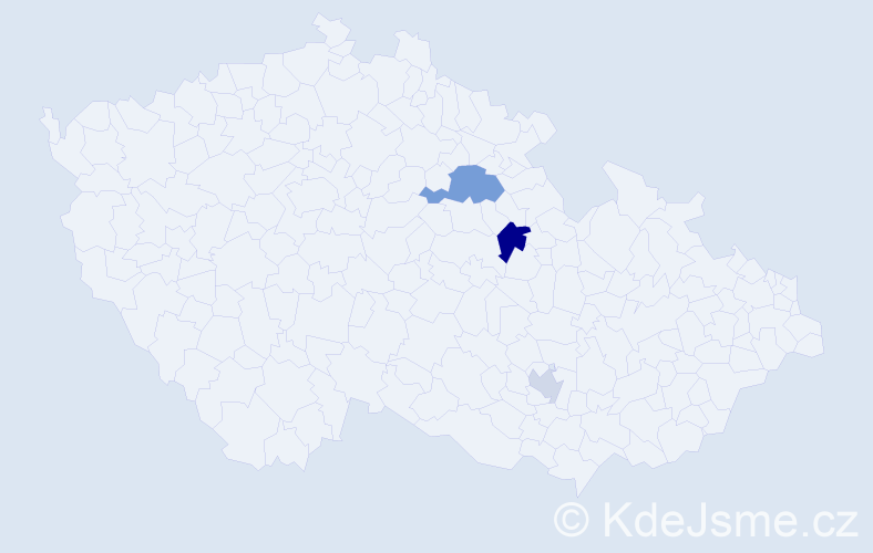 Příjmení: 'Ell', počet výskytů 5 v celé ČR