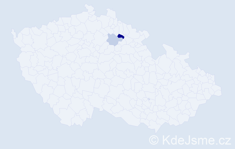 Příjmení: 'Janzáková', počet výskytů 4 v celé ČR