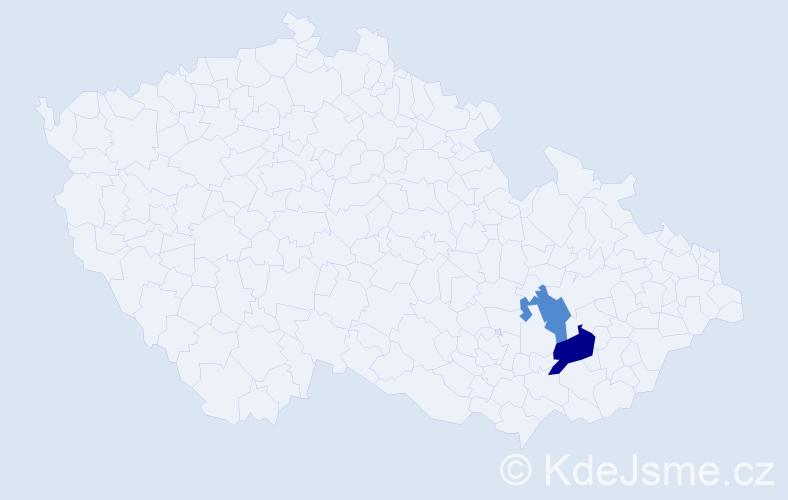Příjmení: 'Cherynová', počet výskytů 11 v celé ČR