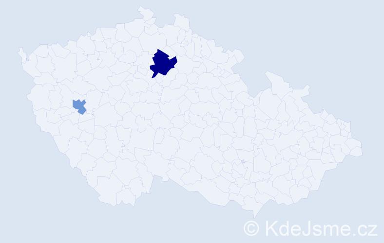 Příjmení: 'Csöszová', počet výskytů 3 v celé ČR