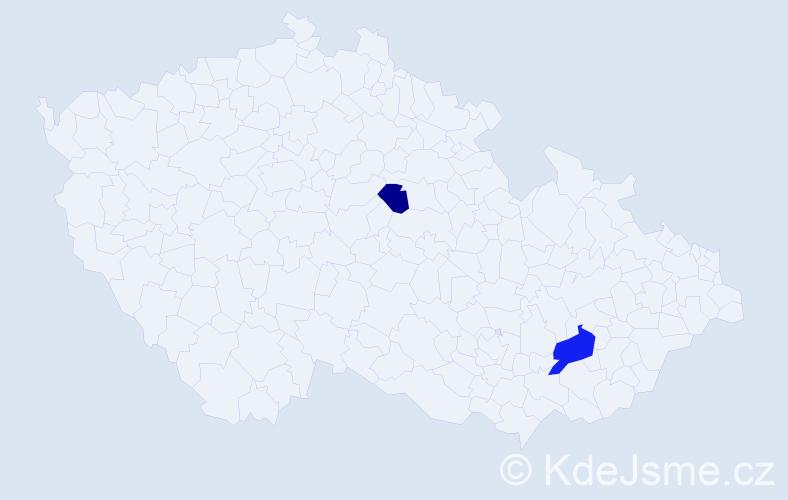 Příjmení: 'Çerçi', počet výskytů 3 v celé ČR