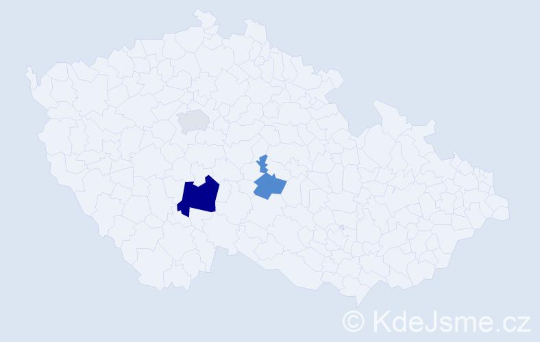 Příjmení: 'Glotz', počet výskytů 5 v celé ČR