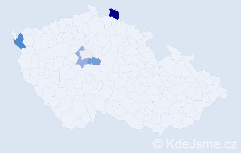 Příjmení: 'Kompitová', počet výskytů 11 v celé ČR