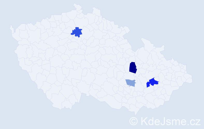 Příjmení: 'Darmová', počet výskytů 9 v celé ČR